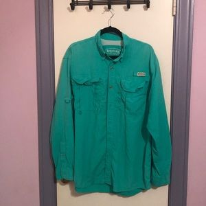 Magellan blue/green fishing shirt.